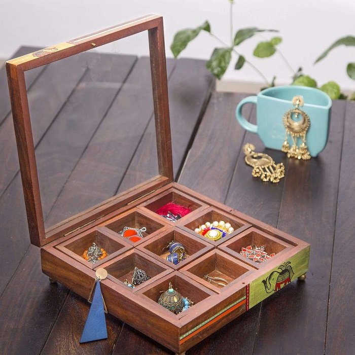 Wooden Jewellery Box karwa chauth gift ideas for wife
